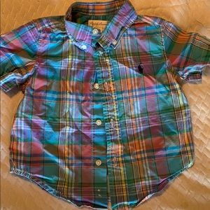 Other - Multi-colored Ralph Lauren Polo SS Button Up
